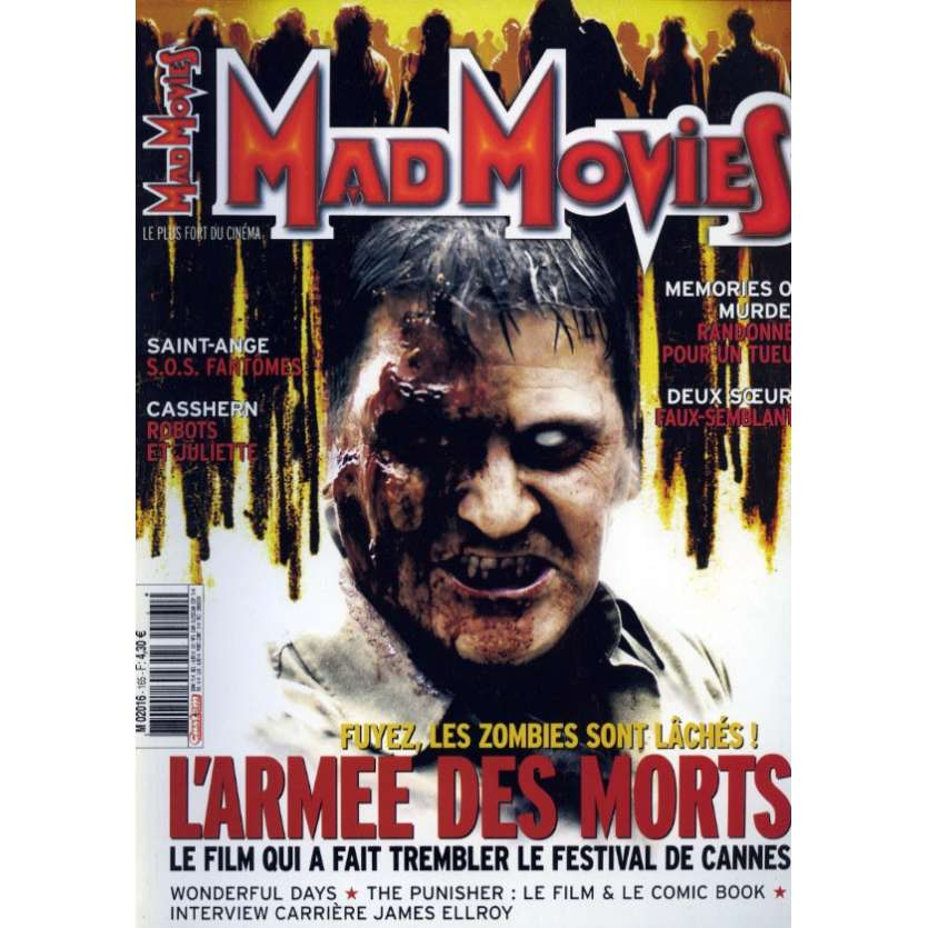 MAD MOVIES N°165 Magazine - 2004 - L'Armée des Morts
