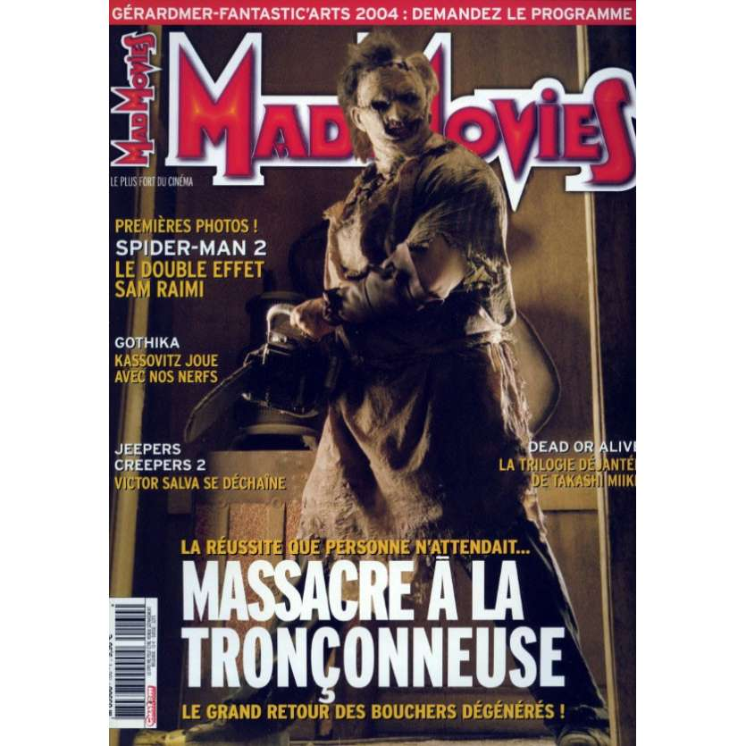 MAD MOVIES N°160 Magazine - 2004 - Massacre à la tronçonneuse