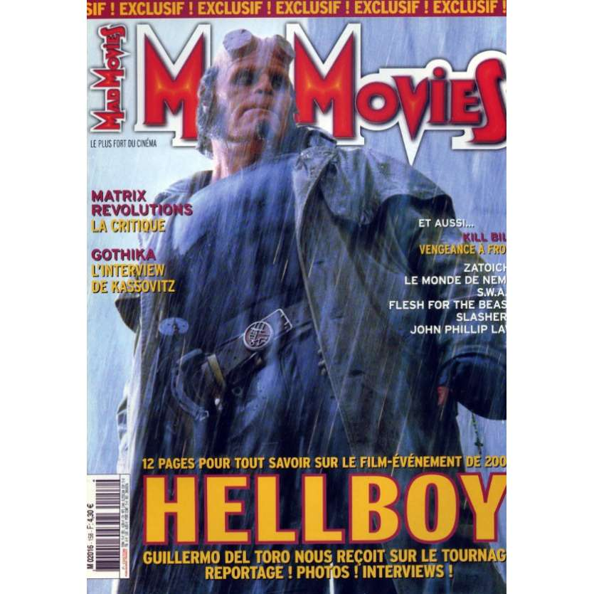 MAD MOVIES N°158 Magazine - 2003 - HellBoy