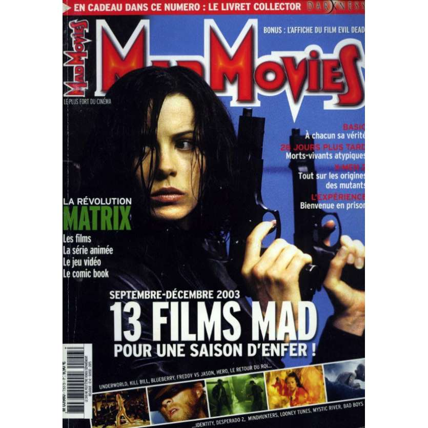 MAD MOVIES N°153 Magazine - 2003 - Underworld, Matrix