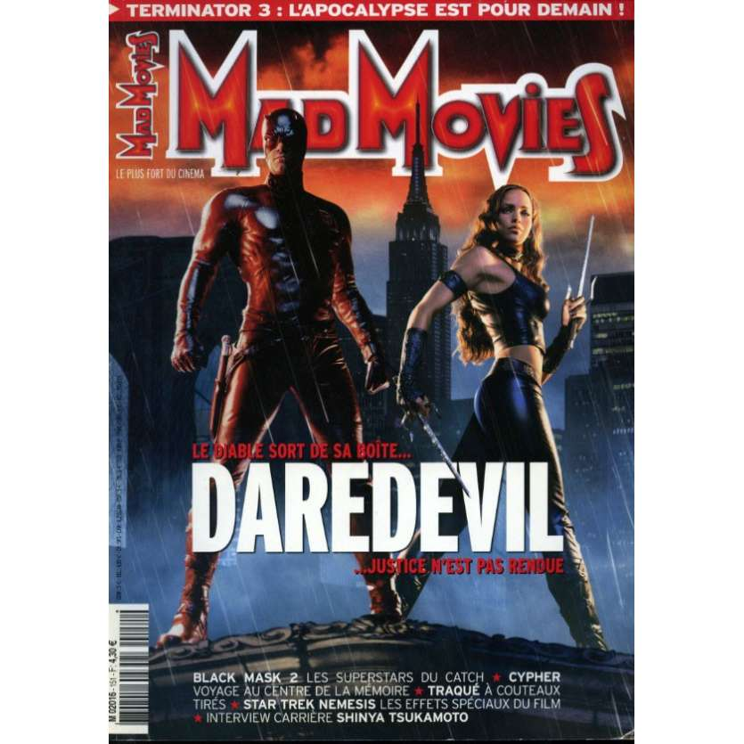 MAD MOVIES N°151 Magazine - 2003 - Daredevil