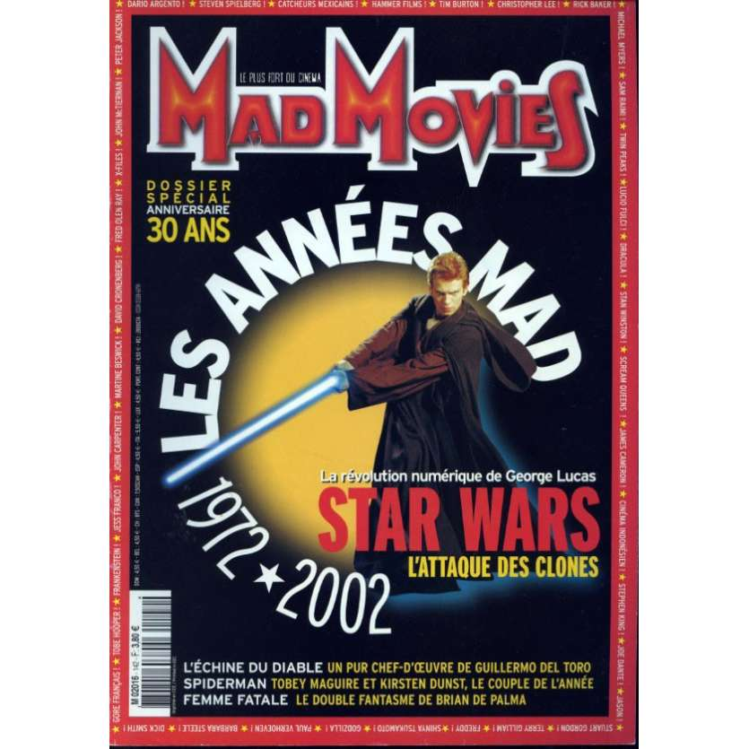 MAD MOVIES N°142 Magazine - 2002 - 30 ans
