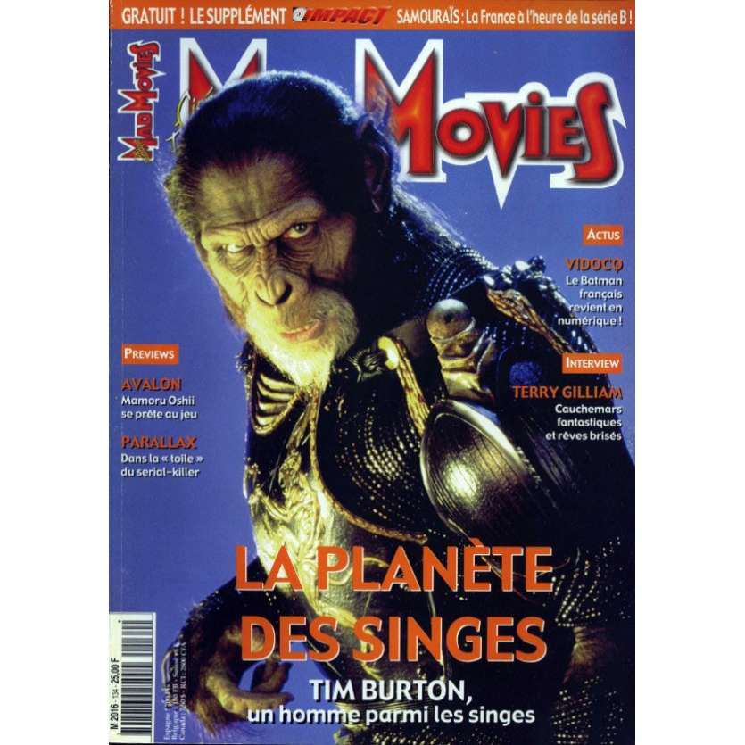 MAD MOVIES N°134 Magazine - 2001 - La Planete des singes