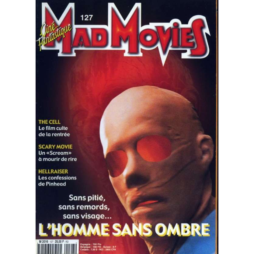 MAD MOVIES N°127 Magazine - 2000 - Hollow Man