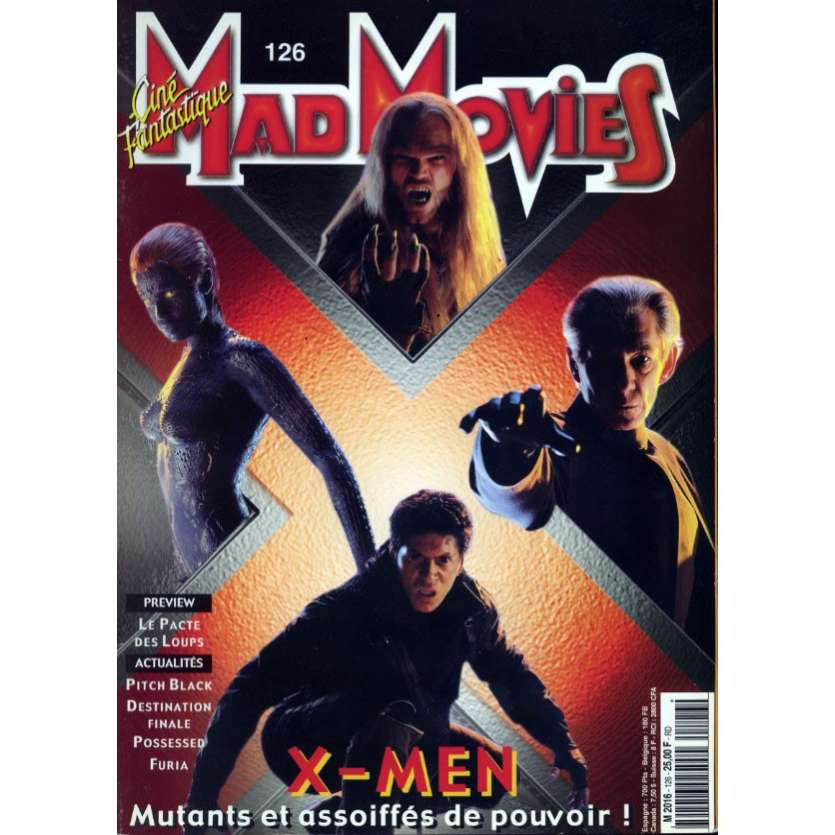 MAD MOVIES N°126 Magazine - 2000 - Xmen
