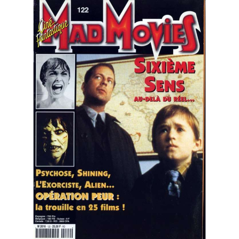 MAD MOVIES N°122 Magazine - 1998 - Sixieme Sens