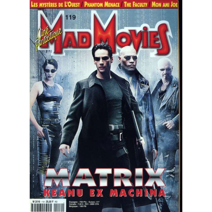 MAD MOVIES N°119 Magazine - 1998 - Matrix