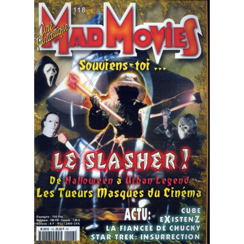MAD MOVIES N°118 Magazine - 1998 - Slashers