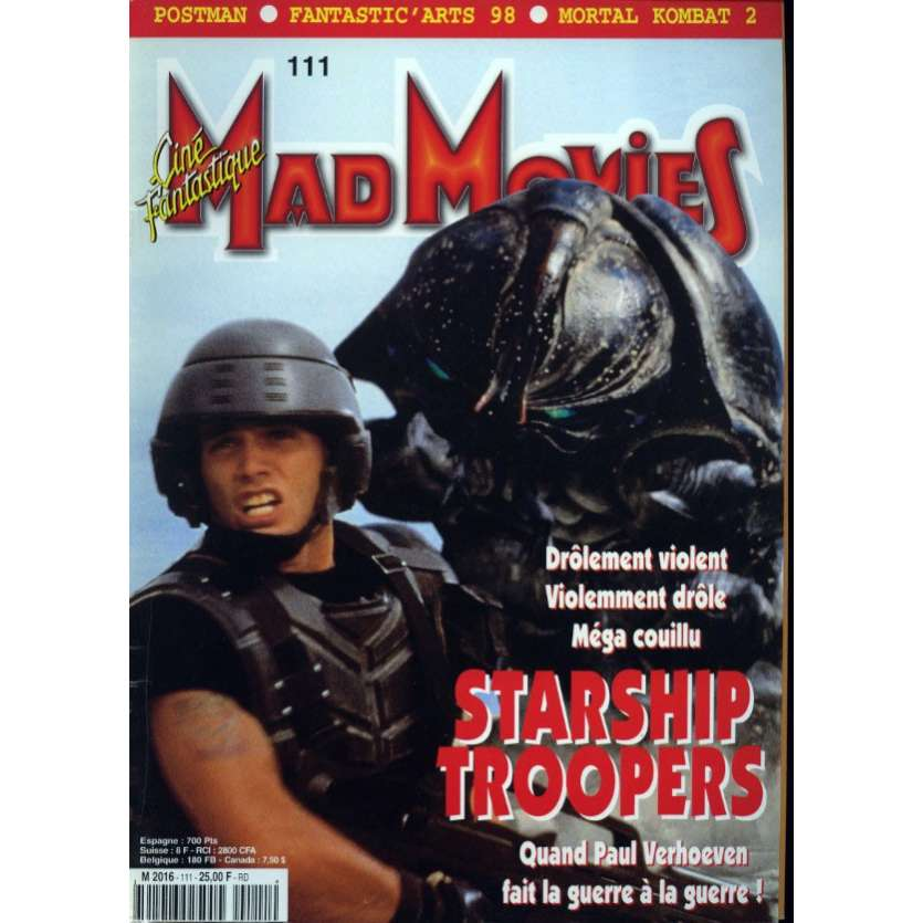 MAD MOVIES N°111 Magazine - 1997 - Starship Troopers