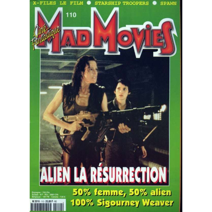 MAD MOVIES N°110 Magazine - 1997 - Alien 4