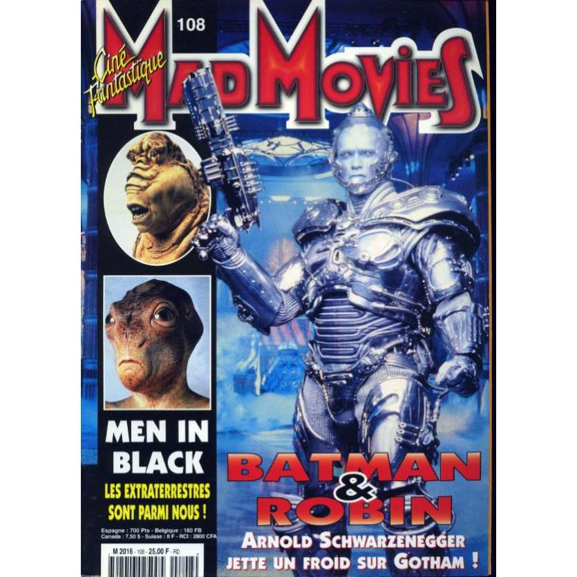 MAD MOVIES N°108 Magazine - 1997 - Batman et Robin