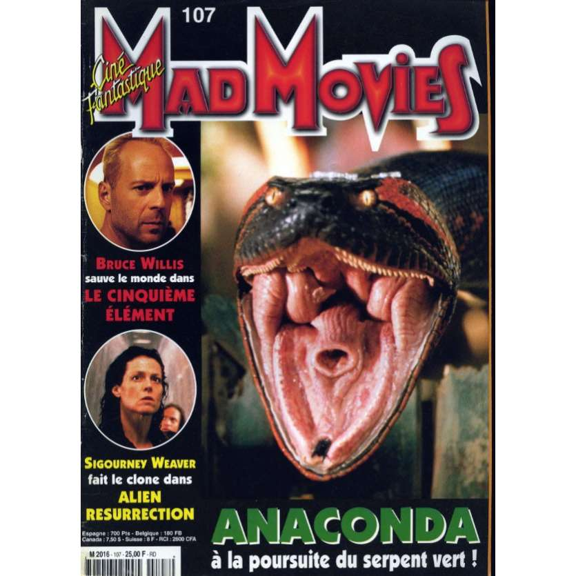 MAD MOVIES N°107 Magazine - 1997 - Anaconda