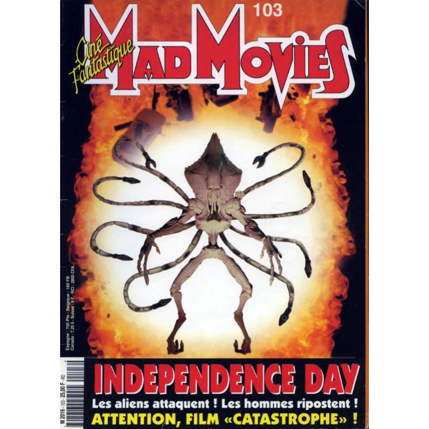 MAD MOVIES N°103 Magazine - 1996 - Independance Day