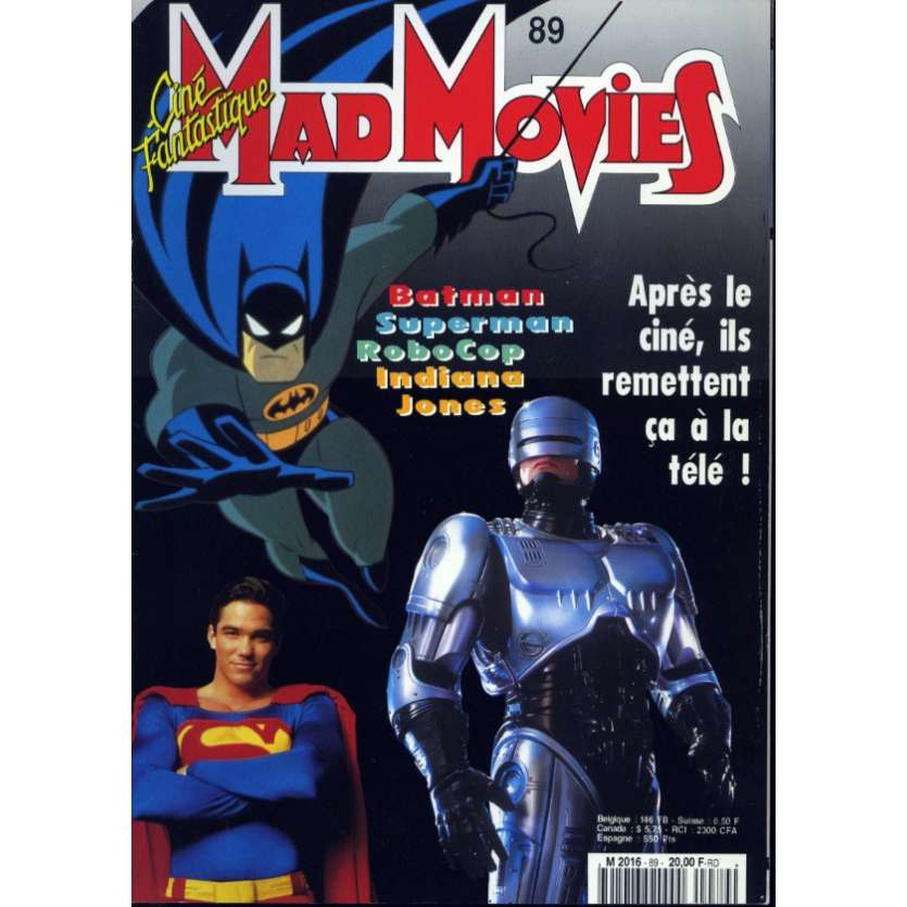 MAD MOVIES N°89 Magazine - 1994 - Super héros TV