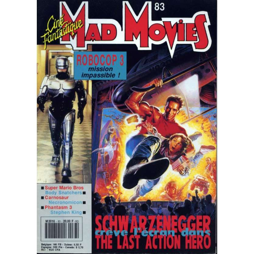 MAD MOVIES N°83 Magazine - 1993 - Last Action Hero