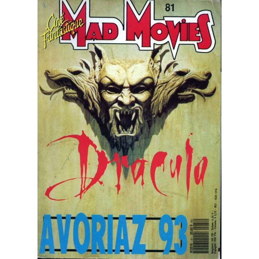 MAD MOVIES N°81 Magazine - 1993 - Dracula - Avoriaz 91