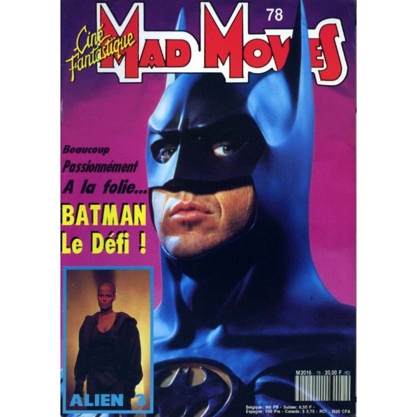 MAD MOVIES N°78 Magazine - 1992 - Batman le défi