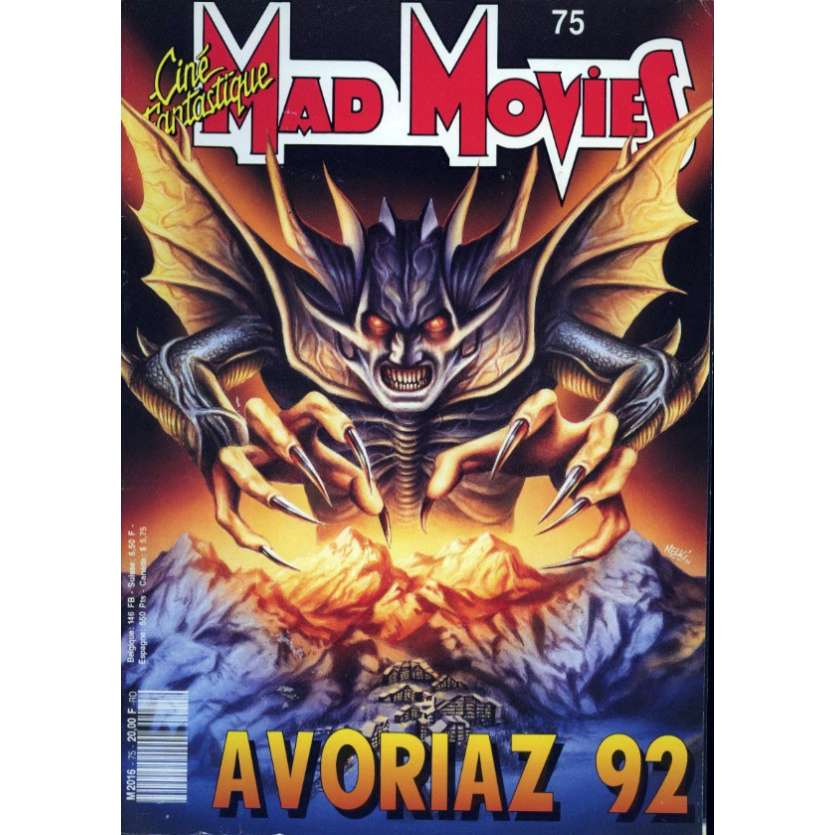 MAD MOVIES N°75 Magazine - 1992 - Avoriaz