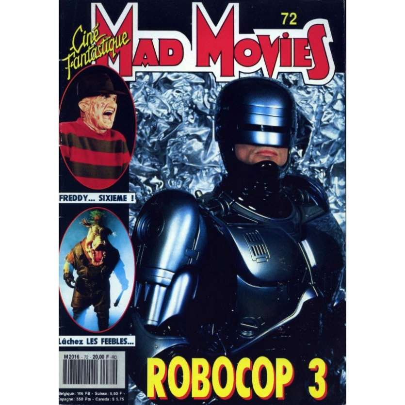 MAD MOVIES N°72 Magazine - 1992 - Robocop 3