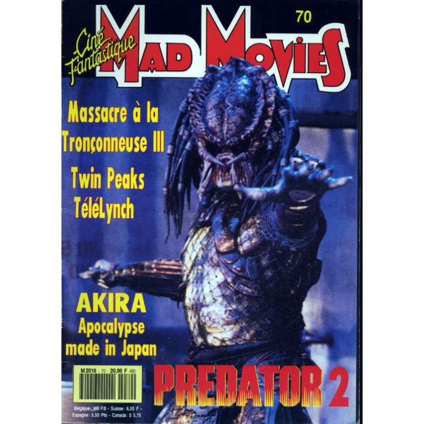 MAD MOVIES N°70 Magazine - 1991 - Predator 2
