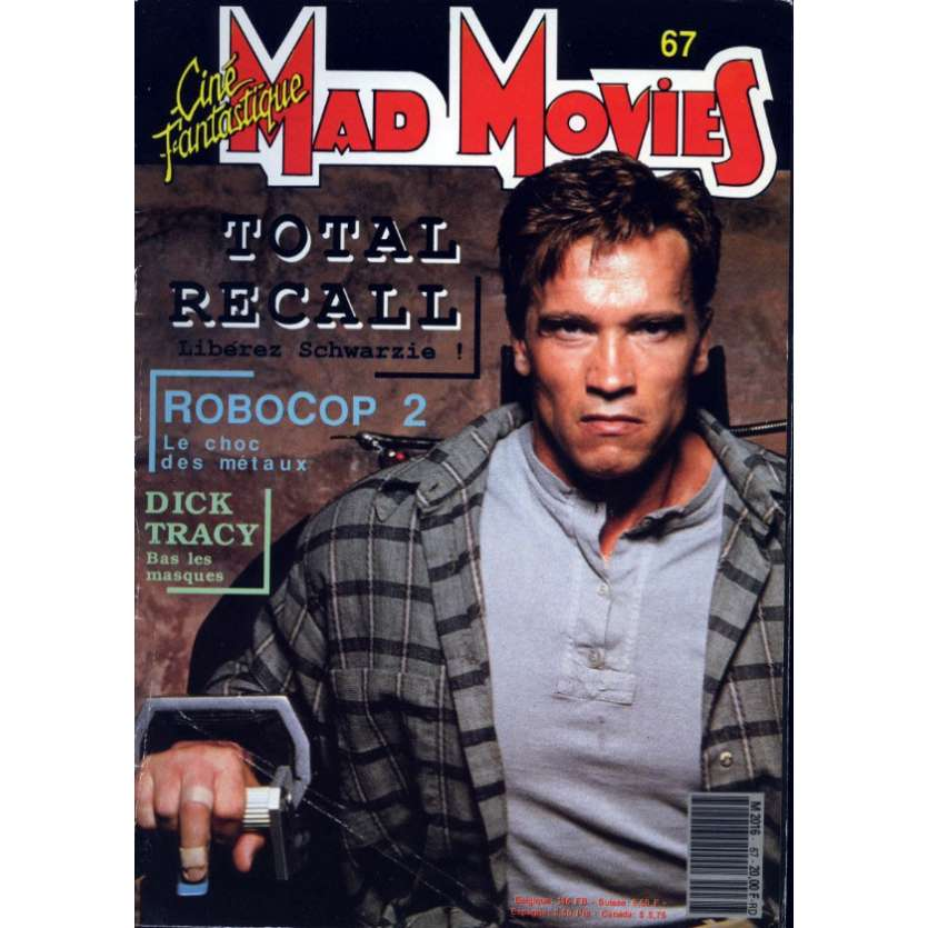 MAD MOVIES N°67 Magazine - 1990 - Total Recall