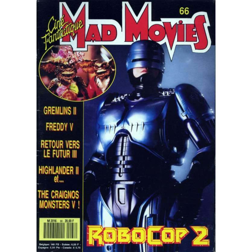 MAD MOVIES N°66 Magazine - 1990 - Robocop 2
