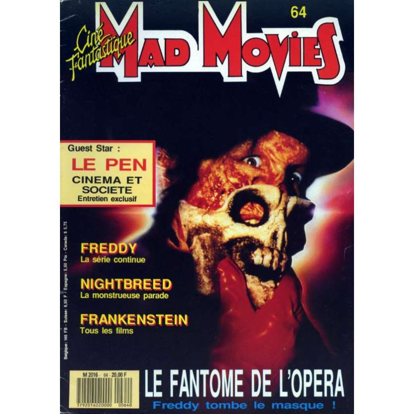 MAD MOVIES N°64 Magazine - 1990 - Fantome de l'opéra