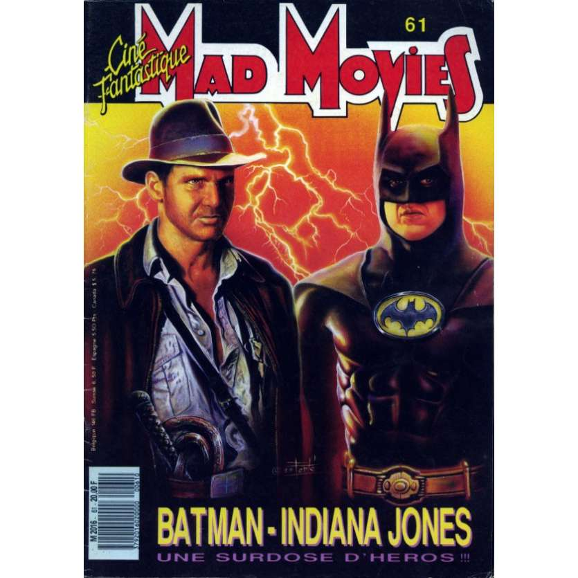 MAD MOVIES N°61 Magazine - 1990 - Batman - Indiana Jones