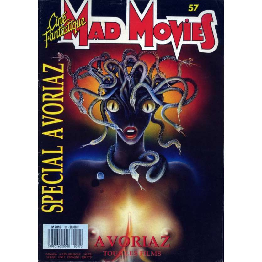 MAD MOVIES N°57 Magazine - 1989 - Avoriaz