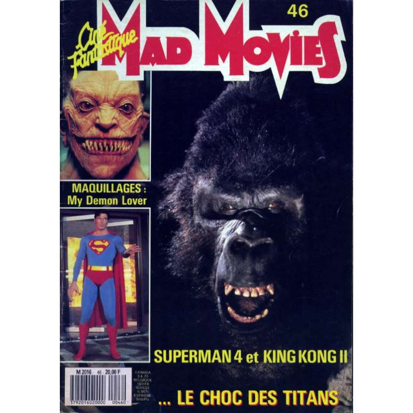 MAD MOVIES N°46 Magazine - 1988 - Superman - King Kong