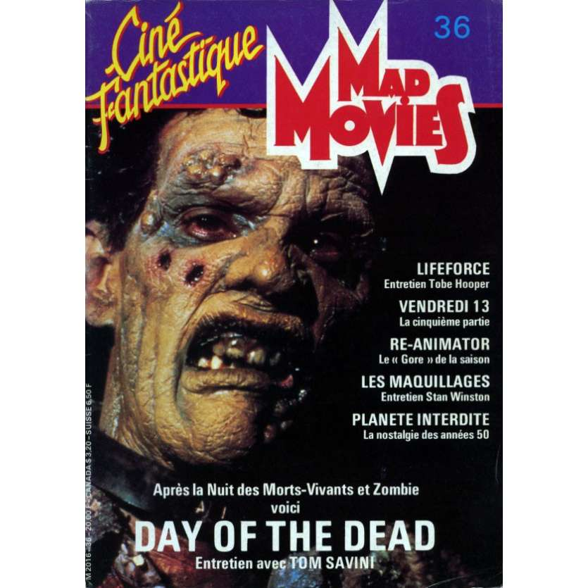 MAD MOVIES N°36 Magazine - 1984 - Le Jour des Morts Vivants