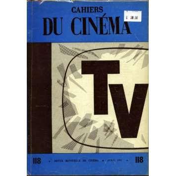 CAHIERS DU CINEMA N°118 Magazine - 1961 - Spécial TV