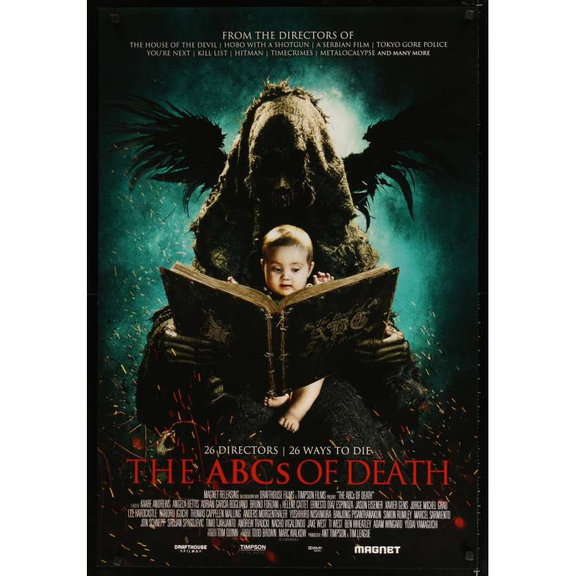 ABC OF DEATH US Movie Poster 27x41 - 2012 - Xavier Gens, Ingrid Bolso Berdal