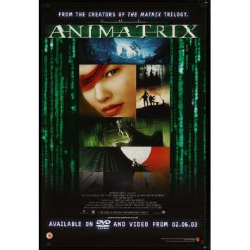 ANIMATRIX Affiche de film 69x102 - 2003 - Takeshi Koike, Mahiro Maeda