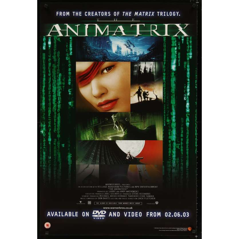 ANIMATRIX US Video Poster 27x41 - 2003 - Mahiro Maeda, Takeshi Koike