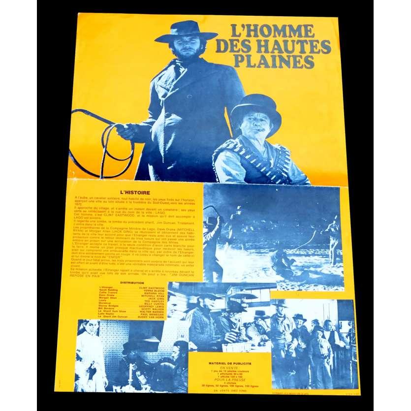 L'HOMME DES HAUTES PLAINES Synopsis 21x30 - 1973 - Clint Eastwood, Clint Eastwood