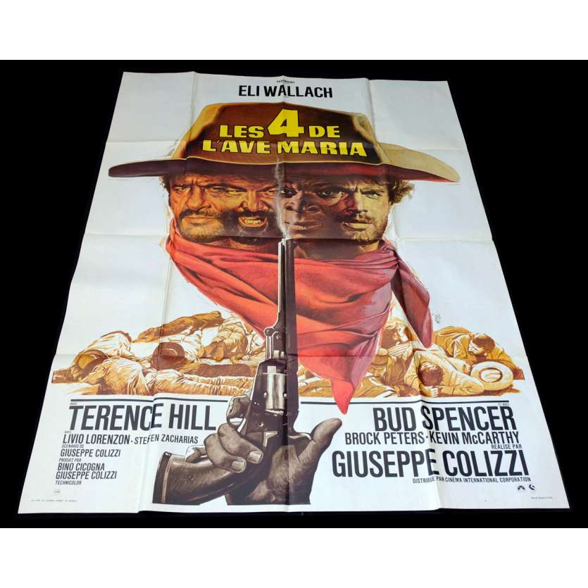 LES QUATRE DE L'AVE MARIA French Movie Poster 47x63 - 1968 - Giuseppe Colizzi, Terence Hill