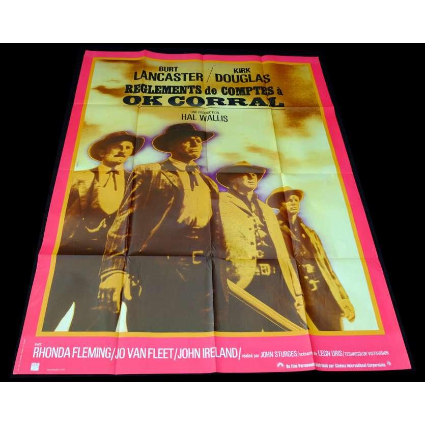 REGLEMENTS DE COMPTES A O.K. CORRAL Affiche de film 120x160 - R1970 - Kirk Douglas, John Sturges