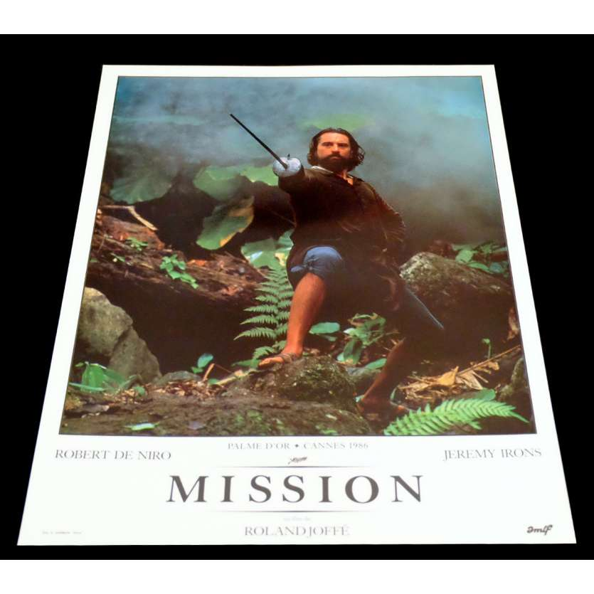 MISSION French DeLuxe Lobby Card 13 11x15 - 1986 - Roland Joffé, Robert de Niro