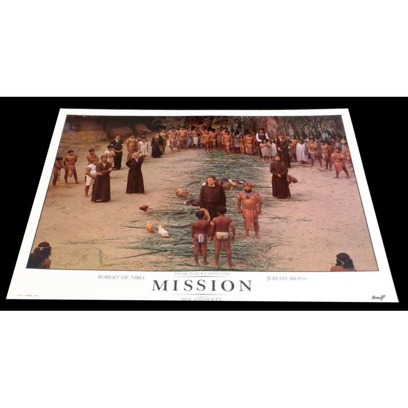 MISSION French DeLuxe Lobby Card 2 11x15 - 1986 - Roland Joffé, Robert de Niro