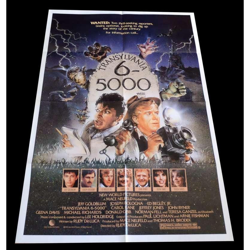 TRANSYLVANIA 6-5000 US Movie Poster 29x41 - 1985 - Rudy De Luca, Geena Davis