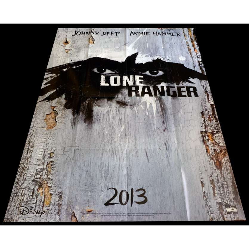 LONE RANGER Affiche de film 120x160 - 2013 - Johnny Depp, Gore Verbinski