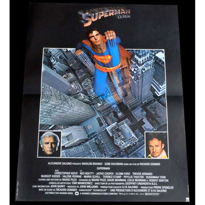SUPERMAN Affiche de film 40x60 - 1978 - Christopher Reeves, Richard Donner
