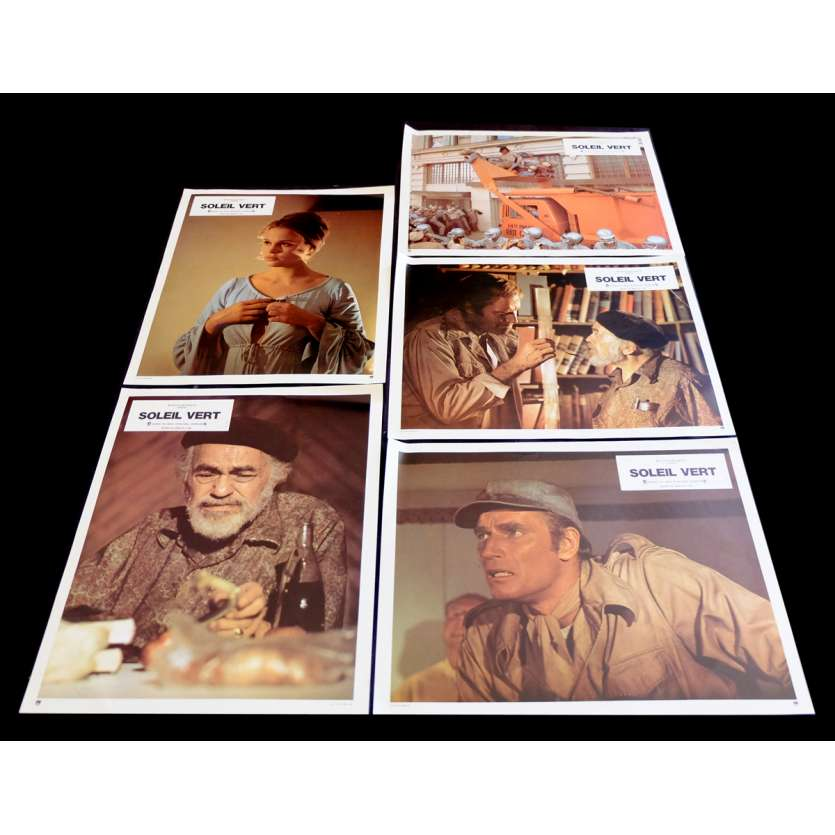 SOYLENT GREEN French Lobby Cards 9x12 - 1974 - Richard Fleischer, Charlton Heston