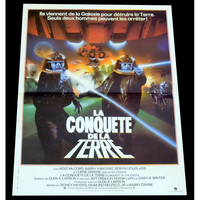CONQUEST OF THE ERATH French Movie Poster 15x21 - 1981 - Barry Crane, Lorne Greene