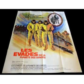 LES EVADES DE LA PLANETE DES SINGES Affiche de film 120x160 - 1971 - Roddy McDowall, Don Taylor