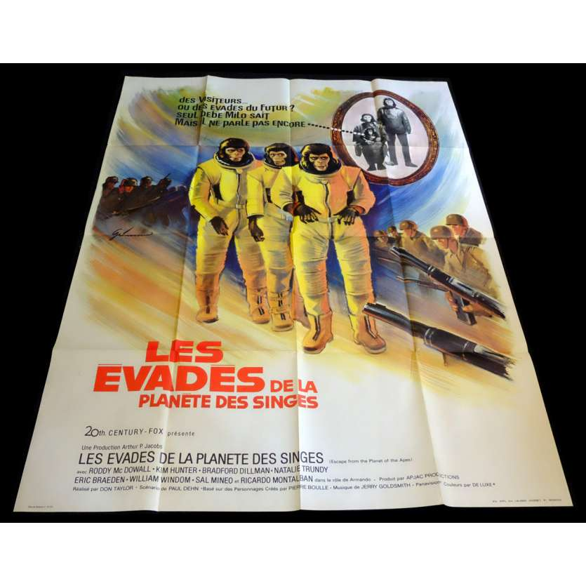 ESCAPE FROM THE PLANET OF THE APES French Movie Poster 47x63 - 1971 - Don Taylor, Roddy McDowall