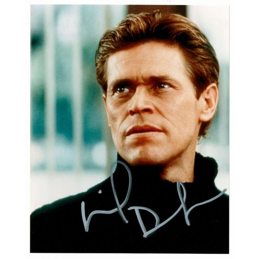 Mauvais-genres.com WILLIAM DAFOE Photo signée USA 2001 Photos signées