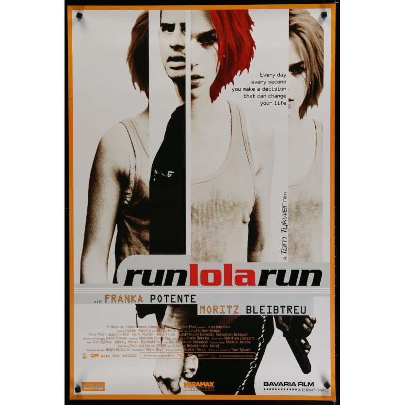 RUN LOLA RUN US Movie Poster 29x40 - 1999 - Tom Tykwer, Franka Potente