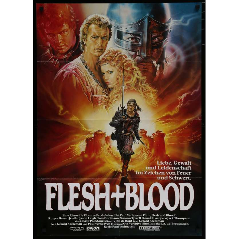 FLESH & BLOOD German Movie Poster 23x33 - 1985 - Paul Verhoeven, Rutger Hauer
